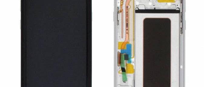 SM-G955F Galaxy S8+ LCD / Touch Module / Frame Silver GH97-20470B