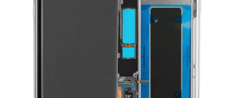 SM-G935F Galaxy S7 Edge LCD / Touch Module / Frame Silver GH97-18533B