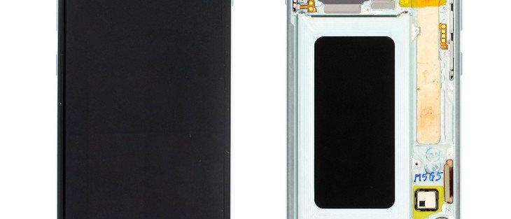 SM-G975F Galaxy S10+ LCD / Touch Module / Frame Green GH82-18849E