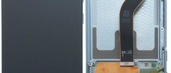 SM-G985F Galaxy S20+ LCD / Touch Module / Frame Blue GH82-22134D/45D