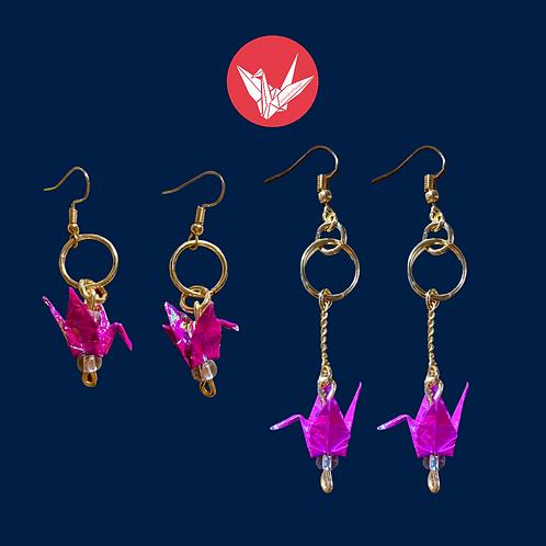 Crane & Ring Earrings