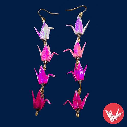 4x Crane Earrings