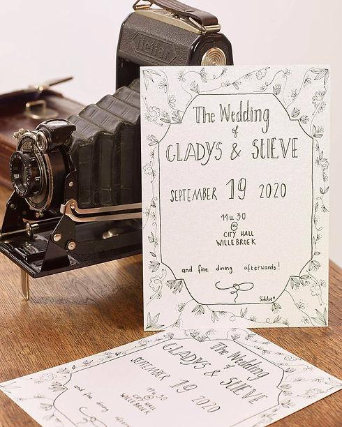 uitnodiging Gladys en Steve