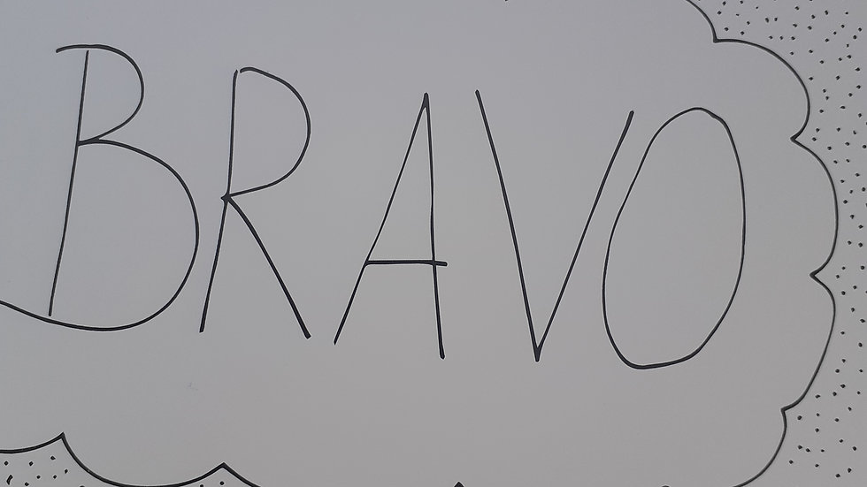 Bravo-wenskaart
