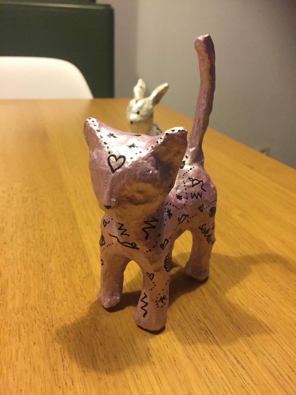 3D doodling cat