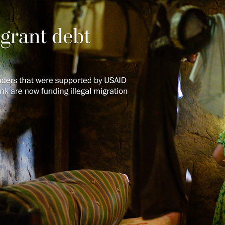 USAID Helped Set Up Microfinance --Now it's funding illegal migration.