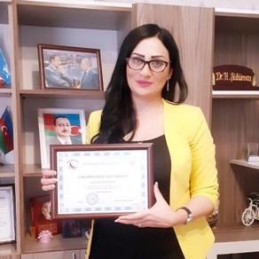 """Həqiqət Şükürova """"Gənclərin dostu"""" fəxri diplomu ilə təltif edilib"""