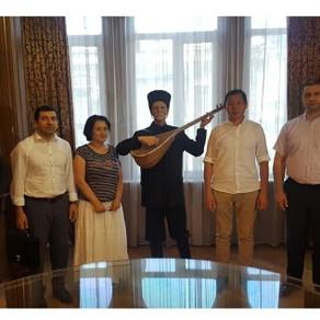 Beynəlxalq Türk Akademiyasının nümayəndələri Aşıq Şəmşir Muzeyində olublar – FOTO