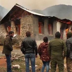 """""""France-Press Agentliyi"""" reportaj hazırlayıb: """"... Ermənilər evləri yandırdılar, ağacları qırdılar.."""