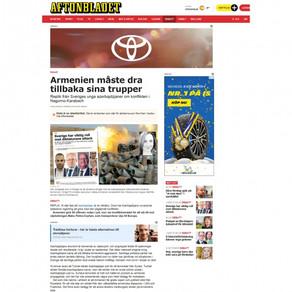 İsveç qəzeti: Ermənistan öz qoşunlarını Azərbaycanın işğal edilmiş ərazilərindən çıxarmalıdır
