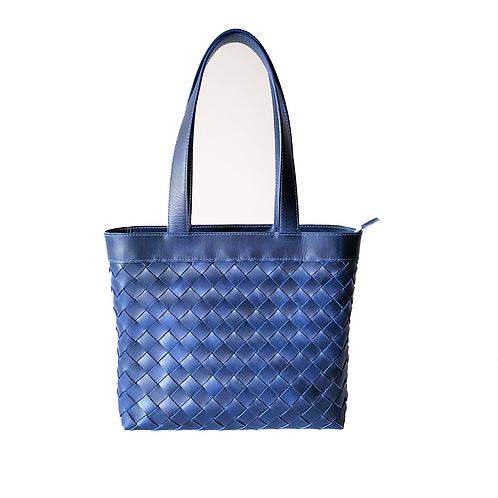 Bolso Shopping Tejido Azul