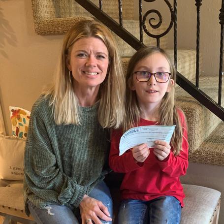 Scott City Second Grader Donates Winnings to RCDC
