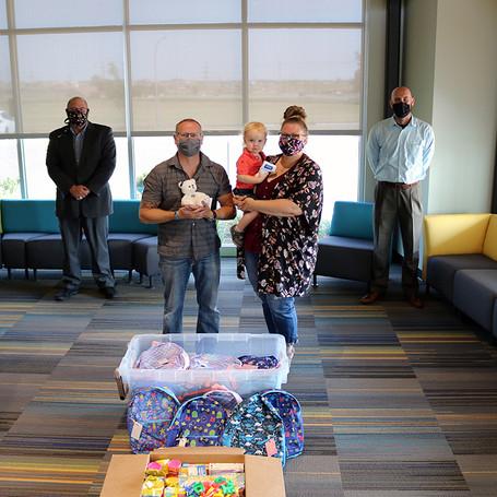 Faith's Friends make generous donation to celebrate Angelversary