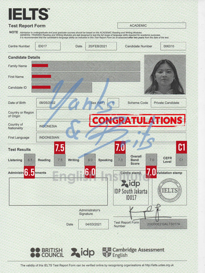 Student's Certificate