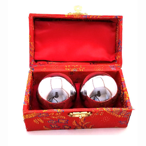 Chinese Therapy Balls – Hollow Silver without Chimes