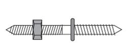"""3 1/2"""" Rail Bolt"""