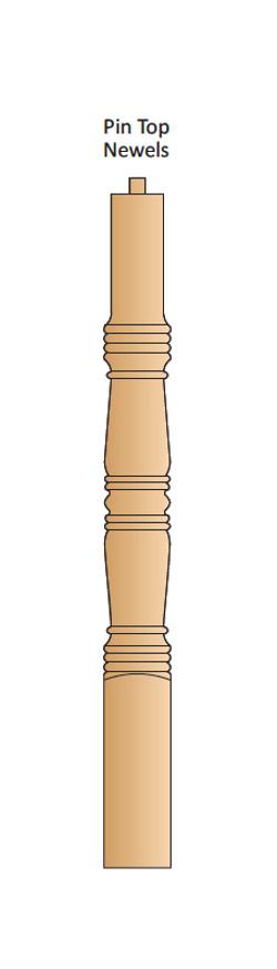 Colonial Pin Top Newel
