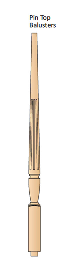Chippendale Pin Top Balusters