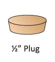"""1/2"""" Plug"""