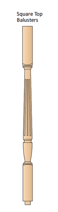 Chippendale Square Top Balusters