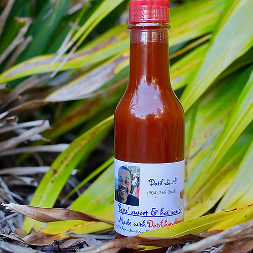 Popz' Sweet & Hot Datil Pepper Sauce