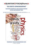 Voorkaft van het boek <QUANTUM|FYSICA@HOME>, inleidende begrippen en ontstaansgeschiedenis van 100j modere