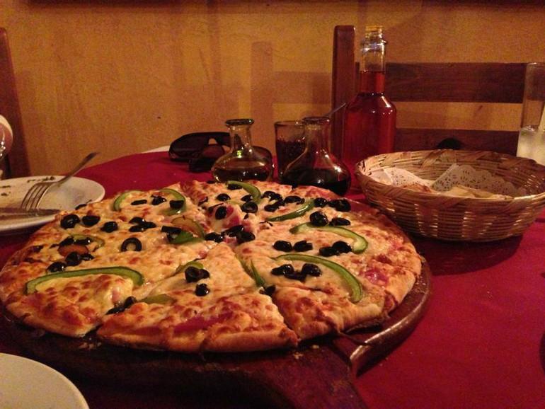 Una pizza vegetariana