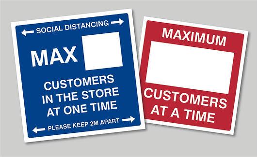 Maximum customers window sticker