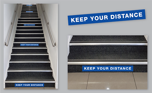 Keep You Distance Staircase Stickers