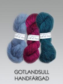 Gotlandsull färgad