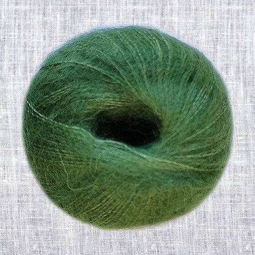 Mohair Viking Kid Silk 332 gulgrön
