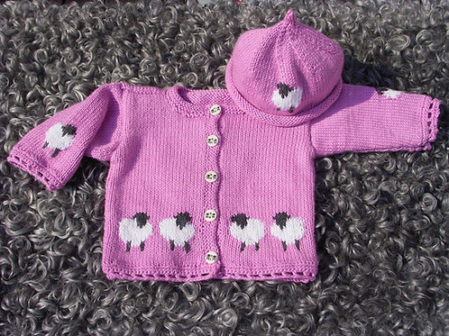 Materialsats Babytröja med lammungar