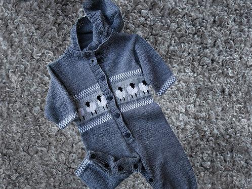 Materialsats Babyoverall i merinoull