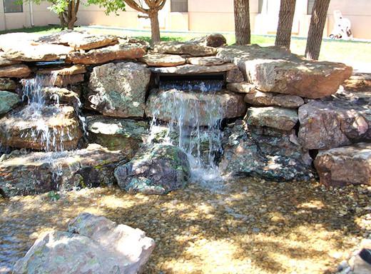 Bubbling fountain