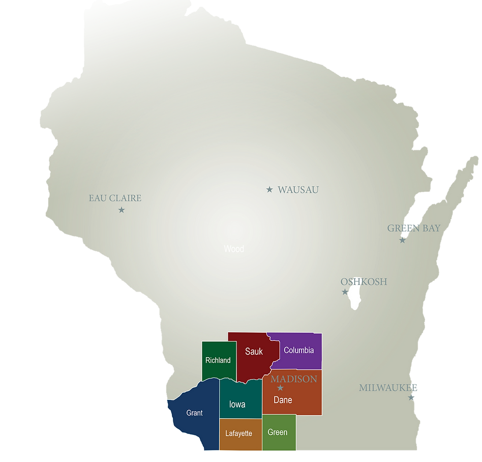 Health care service around Dane County, WI