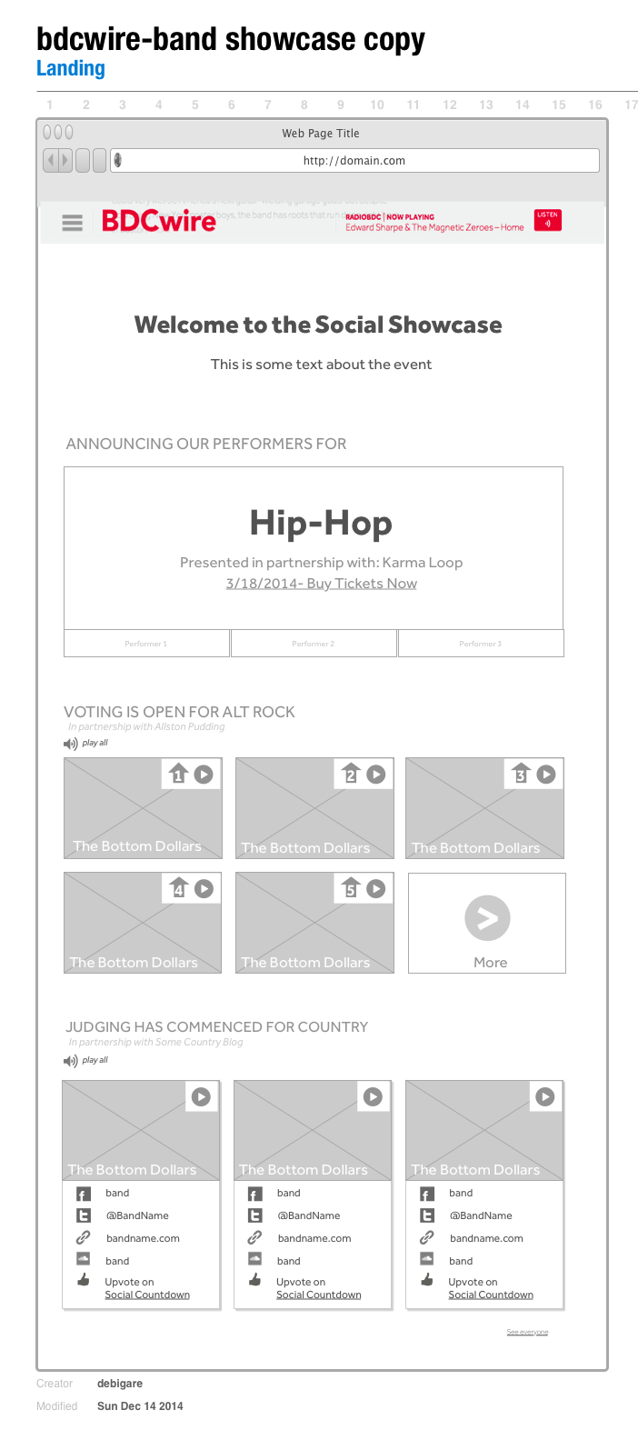 Landing Page –Desktop