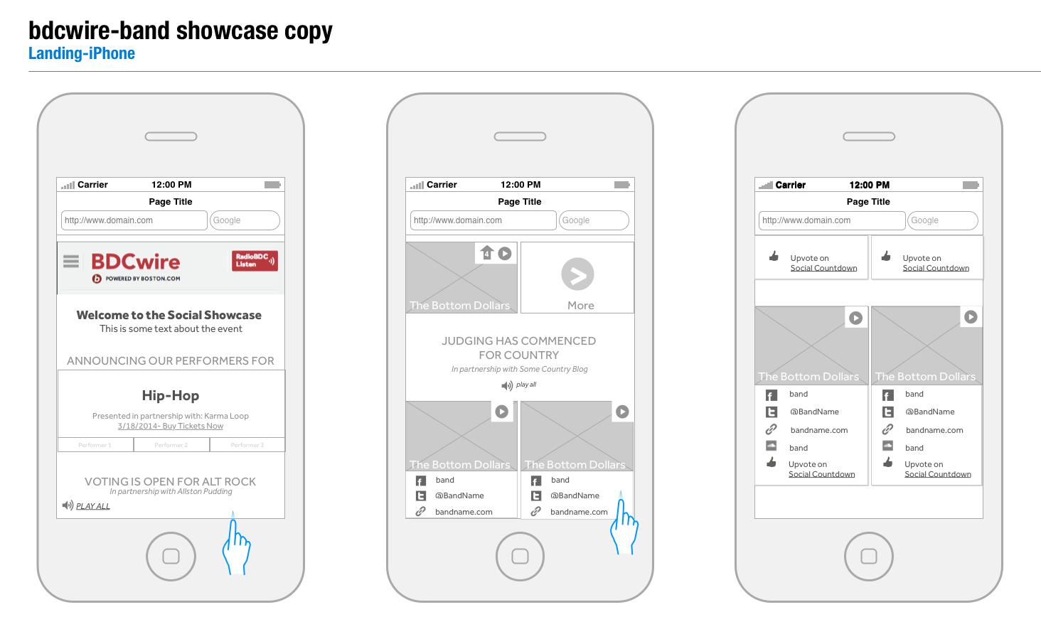 Landing Page – Mobile