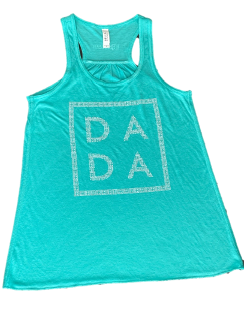 Turquoise Flowy Racer Back Top