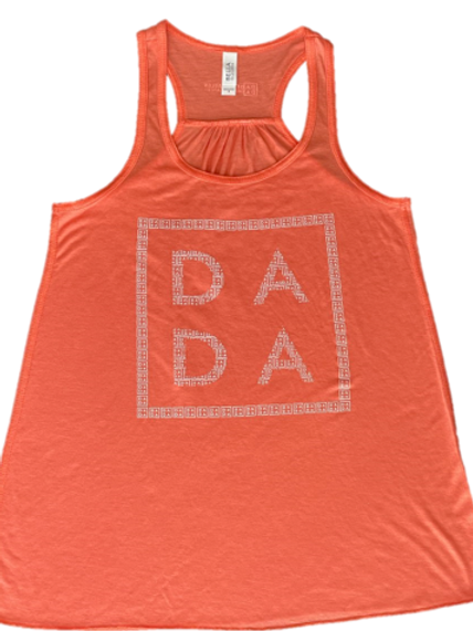 Coral Flowy Racer Back Top