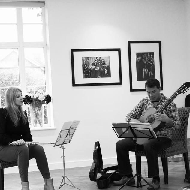 Lisa Friend and Craig ogden rehearsing