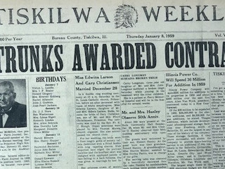 """Tiskilwa in Print: Newspapers from 1856 to 2019"" Featured at Museum on Main September 9"
