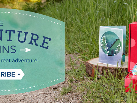 The Adventure Begins!  Sneak peek at the upcoming Paper Pumpkin!!