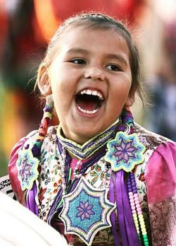Little girl at Delta Park Powwow