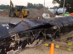 Section of pipe from Kalamazoo spill c N