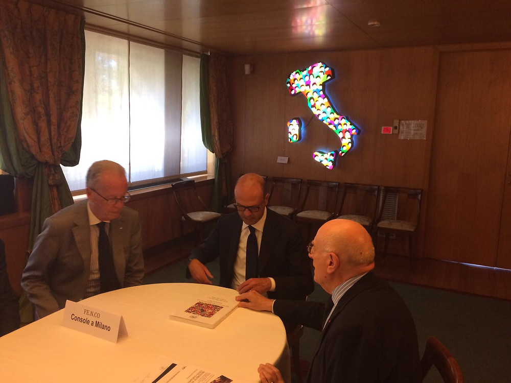 L'Amb. Vattani illustra al Ministro Alfano il Bilancio di responsabilità sociale