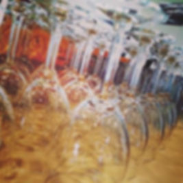 Wine glasses ready for wine