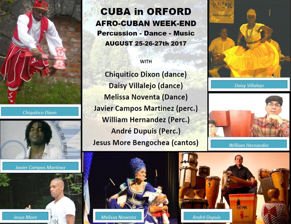 Week-end Afro-cubain 2017 - 5e Édition (25 au 27 août)