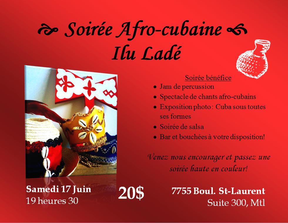 Soirée afro-cubaine Ilu Ladé (17 juin 2017)