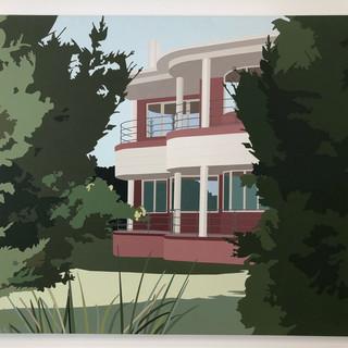 Joanna Lamb  deco house  Acrylic on canvas, 2007