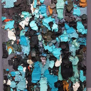 Cynthia Ellis  blue green light painting  Oil on linen, 2017